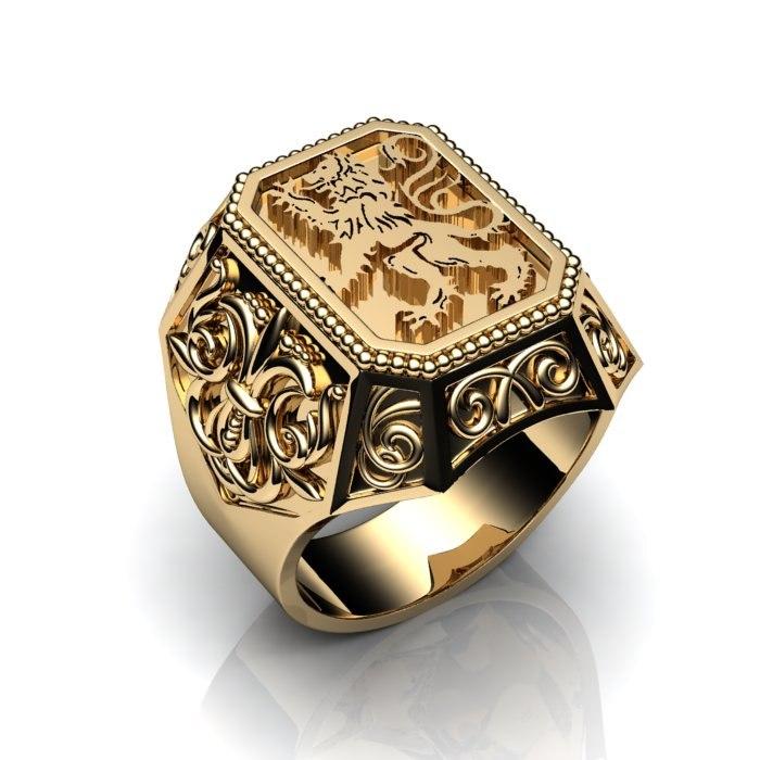 золото печатки мужские фото
