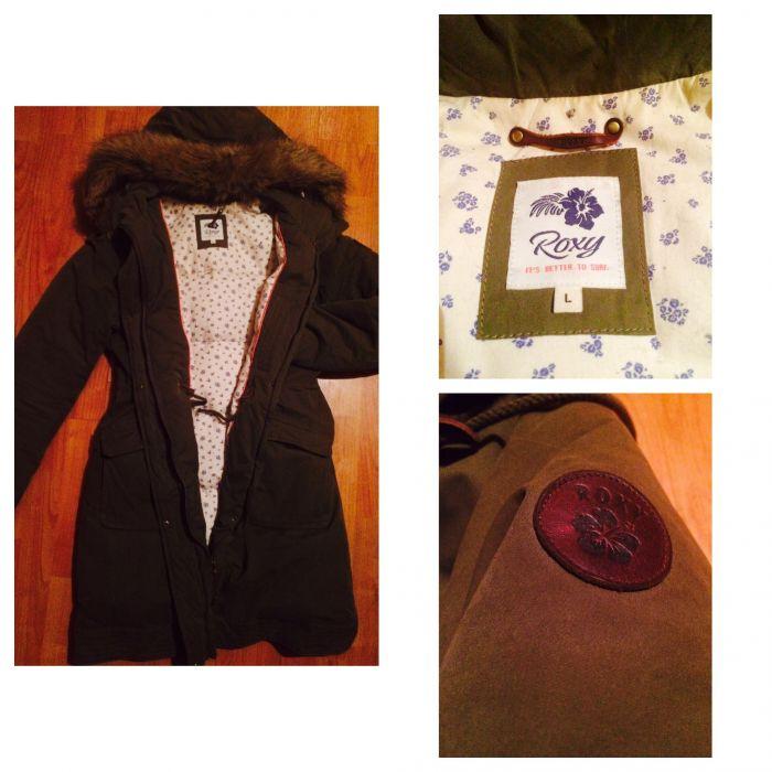 Женская пуховая зимняя фирменная куртка парка фирмы Roxy купить ... 1fd4664600621
